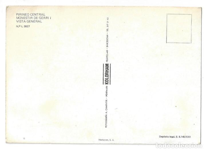 Postales: PIR. CENTRAL. GERRI DE LA SAL.- Nº L 3827, MONESTIR. VISTA GENERAL. LÉRIDA- SIN CIRCULAR - Foto 2 - 195370378