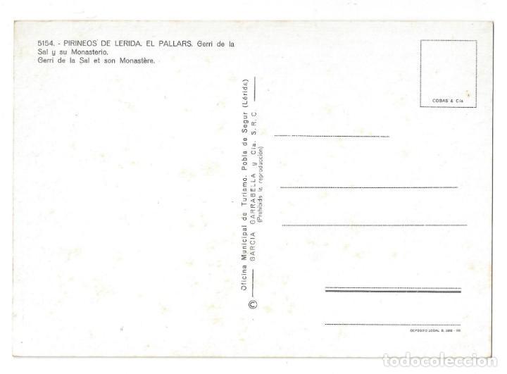 Postales: LOTE DE 3 POSTALES- EL PALLARS.- GERRI DE LA SAL. OF. TUR. POBLA DE SEGUR- LÉRIDA - Foto 3 - 195371297