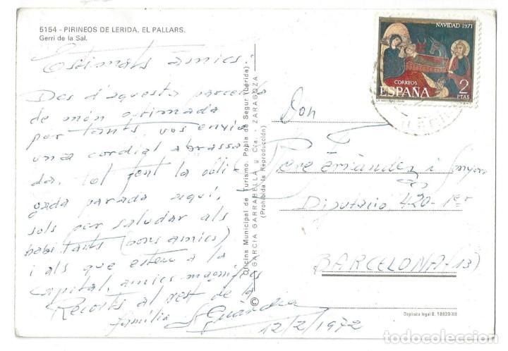 Postales: LOTE DE 3 POSTALES- EL PALLARS.- GERRI DE LA SAL. OF. TUR. POBLA DE SEGUR- LÉRIDA - Foto 5 - 195371297