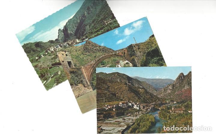 LOTE DE 3 POSTALES- EL PALLARS.- GERRI DE LA SAL. OF. TUR. POBLA DE SEGUR- LÉRIDA (Postales - España - Cataluña Moderna (desde 1940))
