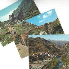 Postales: LOTE DE 3 POSTALES- EL PALLARS.- GERRI DE LA SAL. OF. TUR. POBLA DE SEGUR- LÉRIDA. Lote 195371297