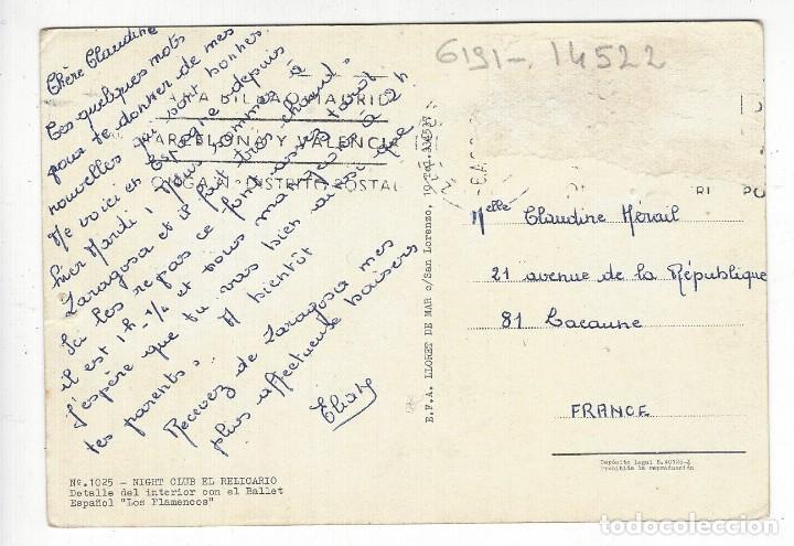 Postales: 1025 - NIGHT CLUB EL RELICARIO.- Detalle del interior con el Ballet Español LOS FLAMENCOS - Foto 2 - 195376661