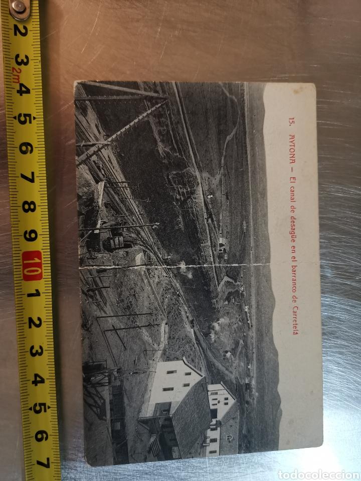 POSTAL DE AYTONA, CANAL DE DESAGÜE EN EL BARRANCO DE CARRETELÁ. COLECCIÓN URRIZA LÉRIDA (Postales - España - Cataluña Antigua (hasta 1939))