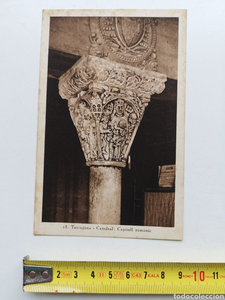 POSTAL DE TARRAGONA Nº15 CATEDRAL, CAPITELL ROMÀNIC (Postales - España - Cataluña Antigua (hasta 1939))