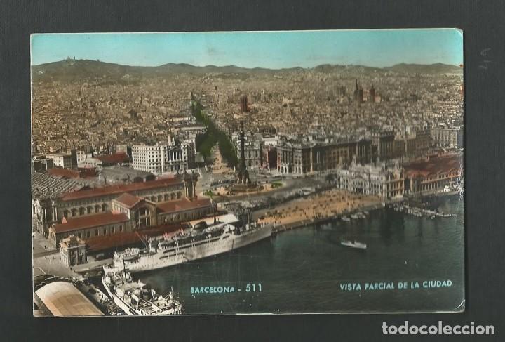 POSTAL CIRCULADA - BARCELONA 511 - VISTA PARCIAL DEL PUERTO - EDITA ZERKOWITZ (Postales - España - Cataluña Moderna (desde 1940))