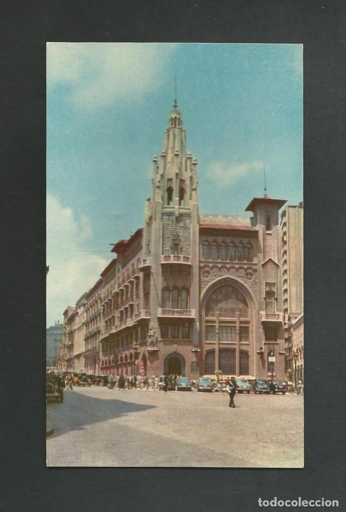 POSTAL CIN CIRCULAR - BARCELONA - OFICINAS CENTRALES CAJA DE PENSIONES - VIA LAYETANA - CASAMAJO (Postales - España - Cataluña Moderna (desde 1940))