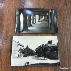 Postales: DOS POSTALES DE CALAF - PASEO STA. CATAMANDA Y PLAZA NACIONAL. Lote 195466385