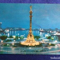 Postales: POSTAL DE BARCELONA. PTA. PAZ MONUMENTO A CRISTOBAL COLON ED. VISION COLOR Nº 47 . Lote 195482996