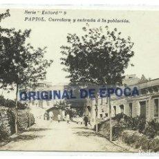 Postales: (PS-63097)POSTAL FOTOGRAFICA DE PAPIOL-CARRETERA Y ENTRADA A LA POBLACION. Lote 195498921