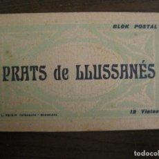 Postales: PRATS DE LLUSSANES-PRATS DE LLUÇANES-BLOC CON 12 POSTALES ANTIGUAS-FOTO ROISIN-VER FOTOS-(68.242). Lote 195500481