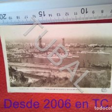 Postales: TUBAL VISTA PARCIAL DEL PUERTO Y TORRES DEL AEREO 120 BARCELONA B34. Lote 195502948
