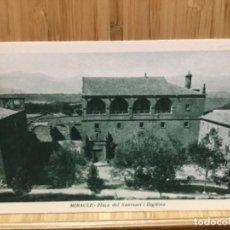 Postales: POSTAL DE LA PLAÇA DEL SANTUARI I ESGLESIA.MIRACLE.. Lote 195537617