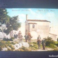 Postales: MONTSERRAT-CAPILLA DE SAN MIGUEL. Lote 195540712