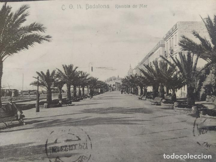 Postales: BADALONA-RAMBLA DE MAR-C.O. 14-POSTAL ANTIGUA-(68.275) - Foto 2 - 195767038