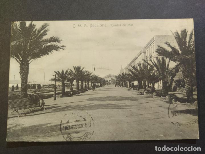 BADALONA-RAMBLA DE MAR-C.O. 14-POSTAL ANTIGUA-(68.275) (Postales - España - Cataluña Antigua (hasta 1939))