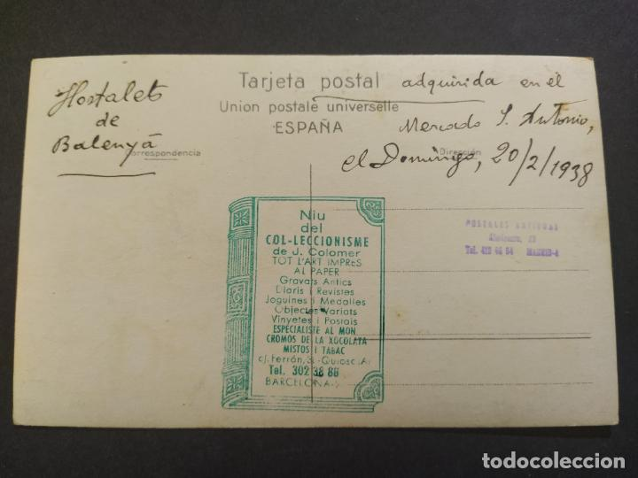 Postales: HOSTALETS DE BALENYA-CASA OLLER-FOTO PALMAROLA-FOTOGRAFICA-POSTAL ANTIGUA-(68.283) - Foto 3 - 195768458