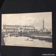 Postales: POSTAL BARCELONA ADUANA Y MONUMENTO A COLON B Y M NO INSCRITA NO CIRCULADA. Lote 195781837