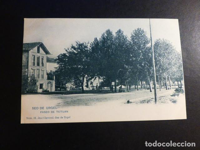 SEO DE URGEL LERIDA LLEIDA PASEO DE TETUAN ED. JOSE CALVEROL Nº 14 SIN DIVIDIR (Postales - España - Cataluña Antigua (hasta 1939))
