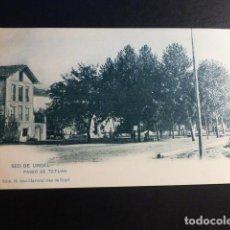 Postales: SEO DE URGEL LERIDA LLEIDA PASEO DE TETUAN ED. JOSE CALVEROL Nº 14 SIN DIVIDIR. Lote 195812231