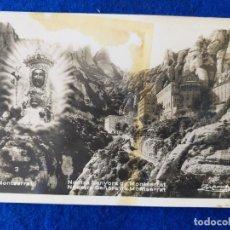 Postales: POSTAL DE MONTSERRAT. NUESTRA SEÑORA DE MONSERRAT. ESCRITA EN 1934. SELLO ALFONSO XIII. Lote 195876407