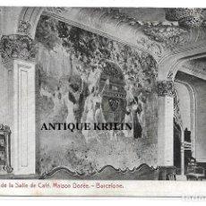 Postales: BARCELONA .- MAISON DORÉE .- UN PANNEAU DE LA SALLE DE CAFÉ / SIN CIRCULAR . Lote 196373197