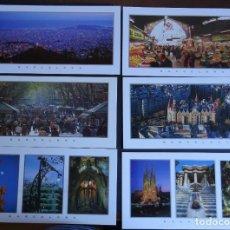 Postales: COLECCIÓN DE 19 POSTALES DE BARCELONA DE 21 X 11 CM. SIN CIRCULAR DEL AÑO 1995, VER TODAS LAS FOTOS. Lote 196539113