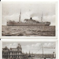 Postales: P-10174. LOTE DE 3 POSTALES BARCELONA COMPAÑIA TRANSMEDITERARNEA.. Lote 196886121