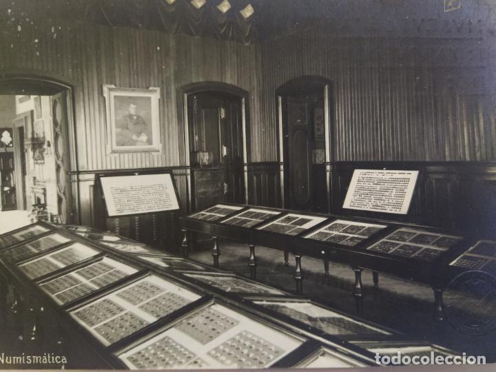 BARCELONA-MUSEUS ART I ARQUEOLOGIA-NUMISMATICA-SELLO EN SECO-POSTAL FOTOGRAFICA ANTIGUA-(68.695) (Postales - España - Cataluña Antigua (hasta 1939))