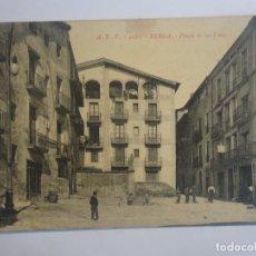Postales: ANTIGUA CPA POSTAL DE BERGA, A.T.V. 4160, PLASSA DE LAS FONTS , VER FOTOS. Lote 197281621