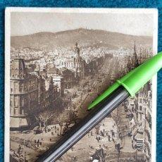 Postales: POSTAL BARCELONA. PASEO DE GRACIA. Lote 197296168