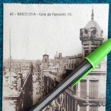 Postales: POSTAL BARCELONA. CALLE DE FERNANDO VII. Lote 197405235