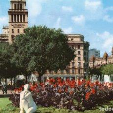 Postales: BARCELONA PLAZA DE CATALUÑA (DETALLE) . Lote 197576783