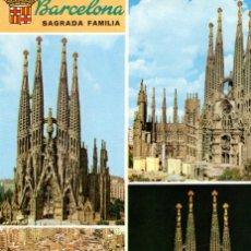 Postales: BARCELONA VISTAS SAGRADA FAMILIA. Lote 197578737