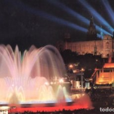 Postales: BARCELONA FUENTE MONUMENTAL NOCTURNA 2 POSTALES. Lote 197579317