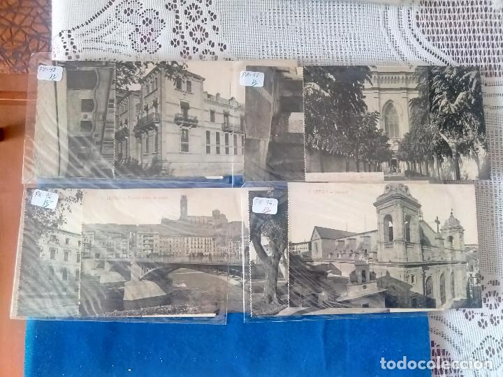 PR-95.- LOTE DE - 8 - POSTALES DE -- LERIDA -- VARIOS LUGARES DE LA CIUDAD, VER FOTOS DE TODAS (Postales - España - Cataluña Antigua (hasta 1939))
