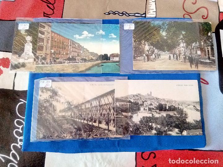 PR-170.- LOTE DE -- 5 -- POSTALES DE -- LERIDA -- VARIOS LUGARES DE LA CIUDAD, VER FOTOS DE TODAS (Postales - España - Cataluña Antigua (hasta 1939))