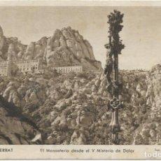 Postales: == PV1500 - POSTAL - MONTSERRAT - EL MONASTERIO DESDE EL V MISTERIO DE DOLOR. Lote 198882613