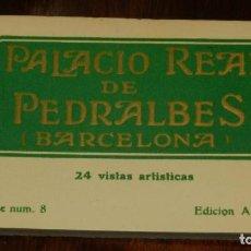 Postales: CUADERNILLO DEL PALACIO REAL DE PEDRALBES, BARCELONA, 24 VISTAS, SERIE NUM, 8, ED. A.T.V.. Lote 200265806