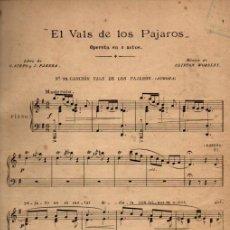 Postales: CLIFTON WORSLEY : EL VALS DE LOS PÁJAROS (UNIÓN MUSICAL, S.F.). Lote 200508416