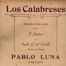 Postales: PABLO LUNA . LOS CALABRESES Nº 5 - SERENATA (UNIÓN MUSICAL. 1919). Lote 200509273