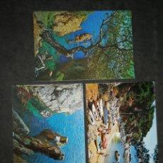 Postales: CALA DE SACOVA, GERONA. LOTE DE 3 POSTALES. Lote 200552586
