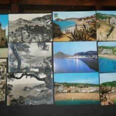 Postales: TOSSA DEL MAR, COSTA BRAVA, GERONA. LOTE DE 11 POST.. Lote 200559968