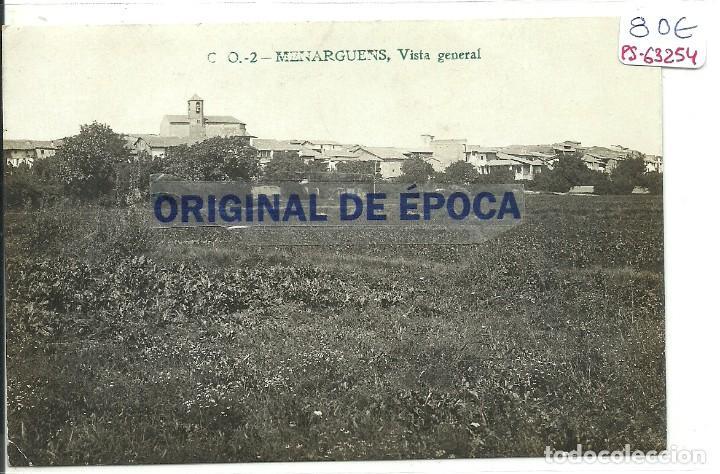 (PS-63254)POSTAL FOTOGRAFICA DE MENARGUENS-VISTA GENERAL.C.O. (Postales - España - Cataluña Antigua (hasta 1939))