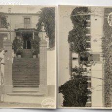 Postales: CASA DEL PARE, SANT HILARI SACALM. 1923. ARXIU JOSEP ENSESA PUJADES. 2 POSTALES FOTOGRÁFICAS. Lote 201681695
