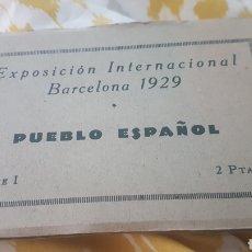 Postales: LOTE 12 POSTALES EXPOSICION INTERNACIONAL BARCELONA 1929 PUEBLO ESPAÑOL. Lote 202011971