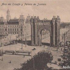 Postales: POSTAL BARCELONA ARCO DEL TRIUNFO Y PALACIO DE JUSTICIA ED. JORGE VENINI SERIE STANDAR. Lote 202685541