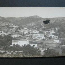 Postales: CABRERA DE MATARO-VISTA ALTA-POSTAL FOTOGRAFICA ANTIGUA-(69.476). Lote 203294986
