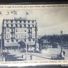 Postales: LA CORUÑA , GALICIA PUBLICITARIA HOTEL PALACE , TRANVÍA .. Lote 203814493