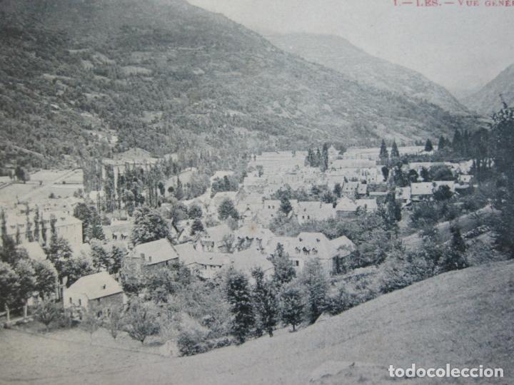 VALL D'ARAN-LES-VISTA GENERAL-POSTAL ANTIGUA-(69.799) (Postales - España - Cataluña Antigua (hasta 1939))