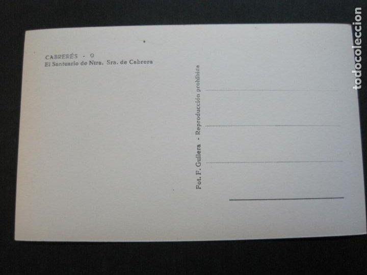 Postales: CABRERES-ERMITA DE NTRA SRA DE CABRERA-FOTO F.GUILERA-POSTAL ANTIGUA-(69.828) - Foto 3 - 203942350